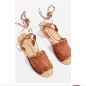 Top shop suede studded sandals